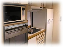 Apartments in Aparts Hotels: Corinto,  Esparta, Tebas,  Atenas in Las Lenas - kitchen - Malargue - Mendoza - Argentina