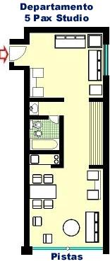 Apartments for 5 persons in Aparts hotels: Corinto,  Esparta, Tebas, Atenas in Las Lenas - Malargue - Mendoza - Argentina (plan)