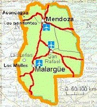 Malargue Map - Mendoza - Argentina